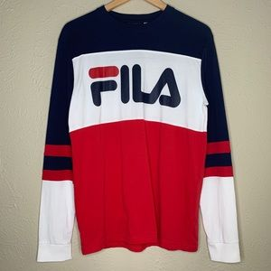 Fila Blackline Logo Long Sleeve Tee